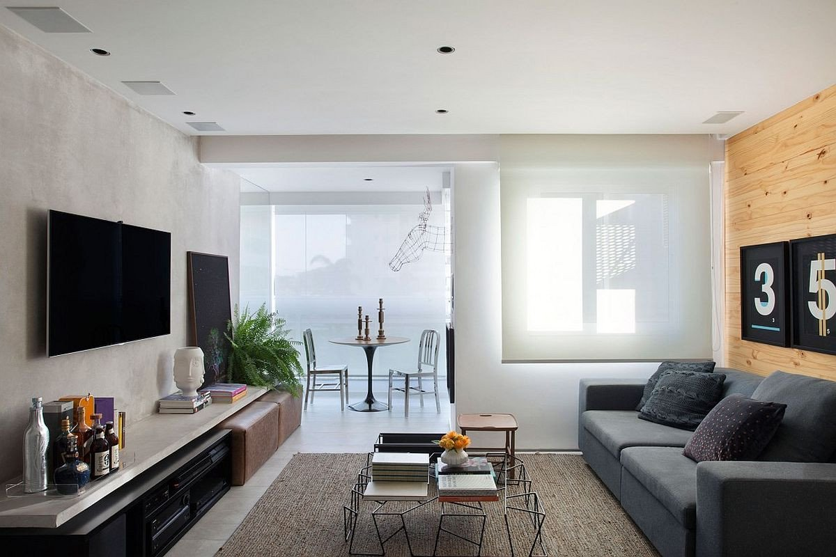 Smallmodern Living Room Decorating Ideas Small and Refined Contemporary Apartment In Rio De Janeiro
