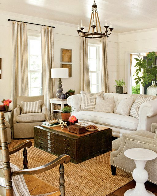 Southern Traditional Living Room 2012 southern Living Idea House Traditional Living