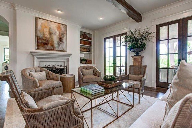 Southern Traditional Living Room Elberton Way southern Living Custom Builder Showcase Home