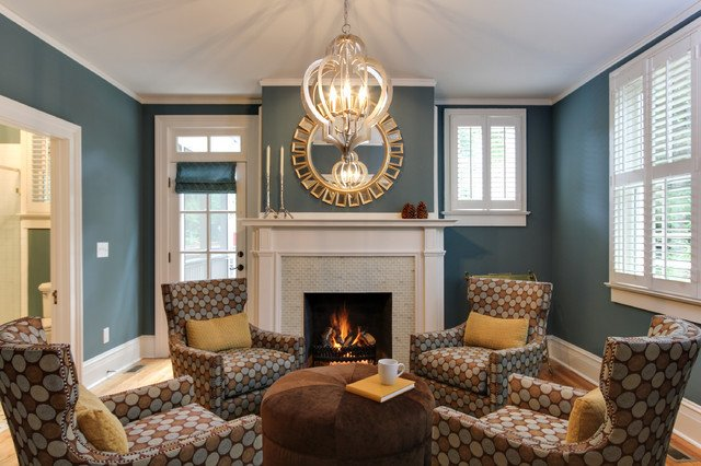 Southern Traditional Living Room Historic southern Home by Otrada Llc Traditional