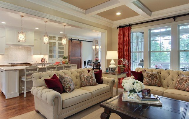 Southern Traditional Living Room sophisticated Farmhouse Traditional Living Room