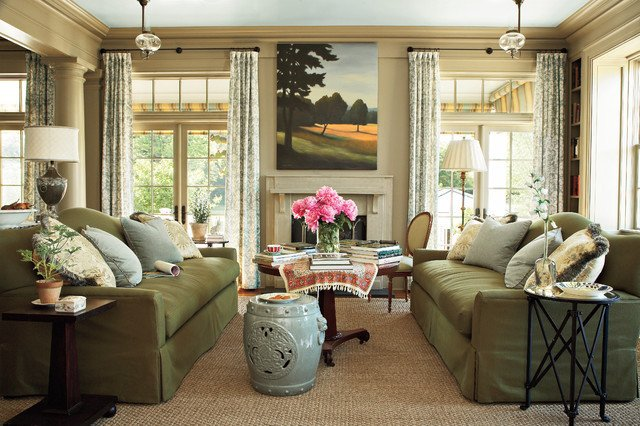 Southern Traditional Living Room southern Living Idea House