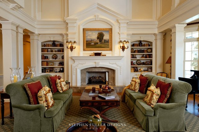 Southern Traditional Living Room southern Style Estate
