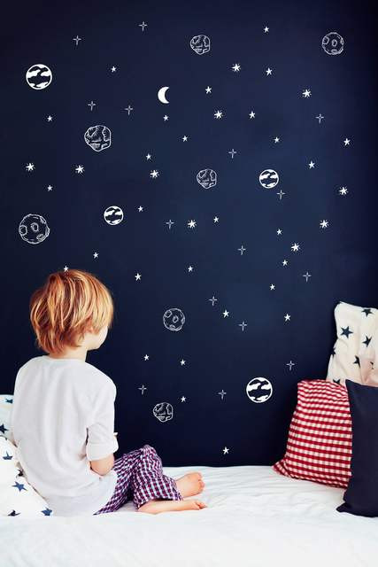 Space Decor for Bedroom Us $8 34 Off Planet Wall Decals solar System astronomy Outer Space Decor Sticker for Kids Living Bedroom Art Vinilos Nursery Poster Ny 418 In Wall