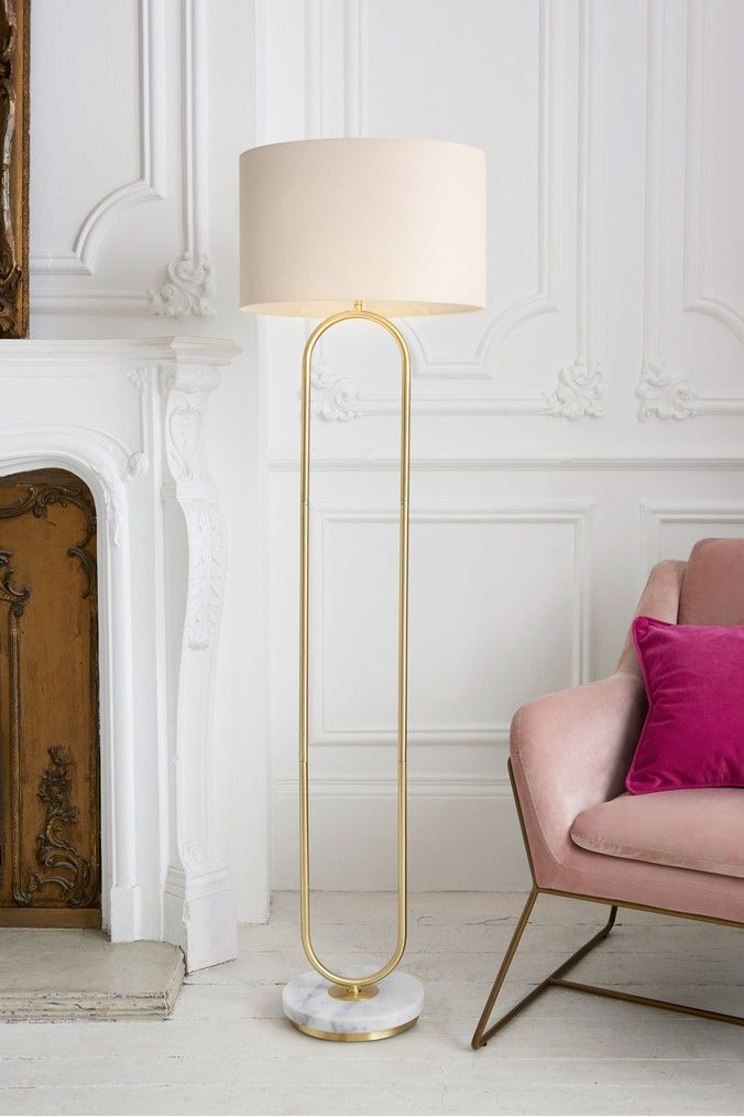Standing Lamps for Bedroom Next Cody Loop Floor Lamp Gold