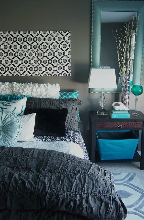 Teal and Gray Bedroom Decor 41 Unique and Awesome Turquoise Bedroom Designs the Sleep