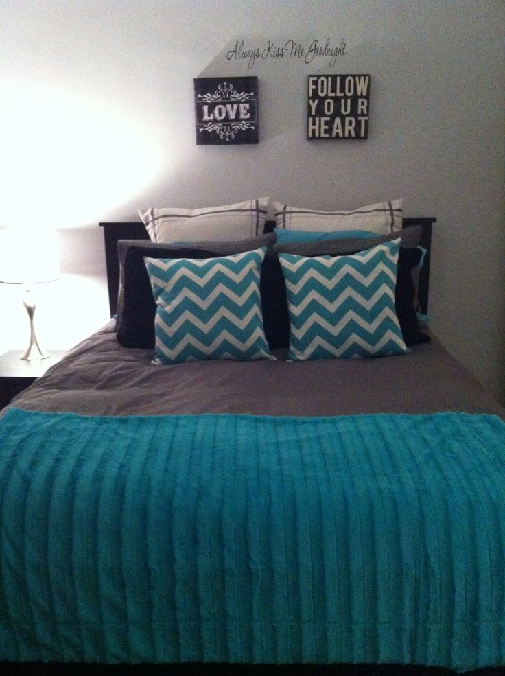 Teal and Gray Bedroom Decor Black Gray Teal Bedrooms Teal & Grey & Black