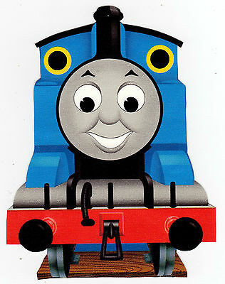 "Thomas the Train Bedroom Decor 6 5"" 10"" Thomas the Train Wall Sticker Glossy Cut Out Border Character"
