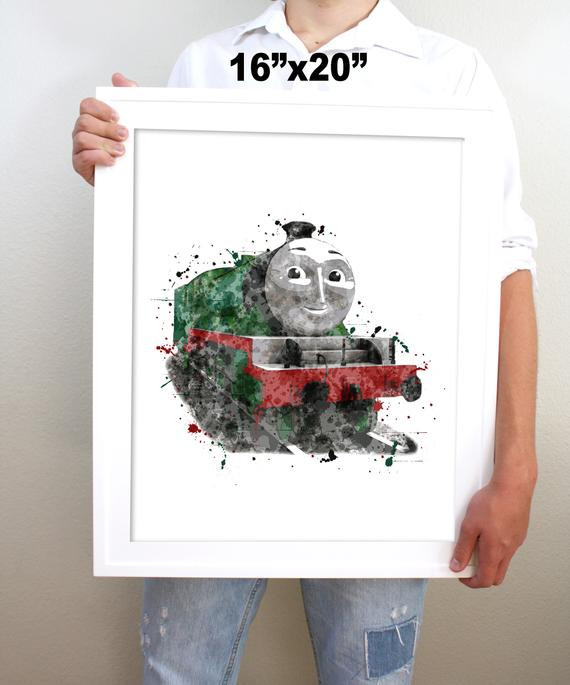 Thomas the Train Bedroom Decor Printable Henry Watercolor Train Wall Art Boy Kids Room Decor Thomas and Friends Train Art Steam Engine Print Digital Download Picture