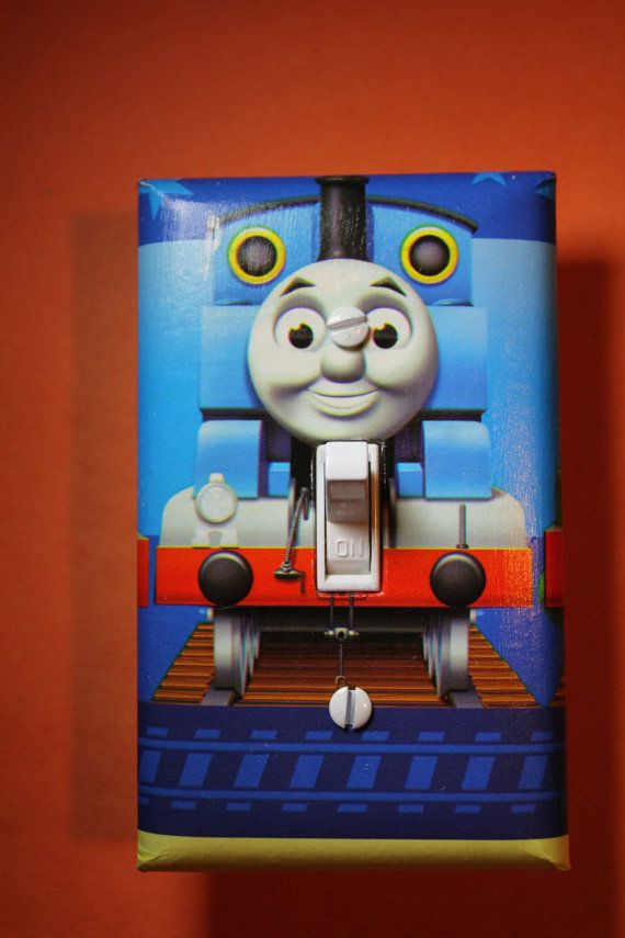 Thomas the Train Bedroom Decor Thomas the Tank Engine Train Light Switch Plate by