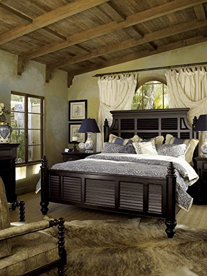 Tommy Bahama Bedroom Furniture Amazon tommy Bahama Home Kingstown Malabar Panel Bed In