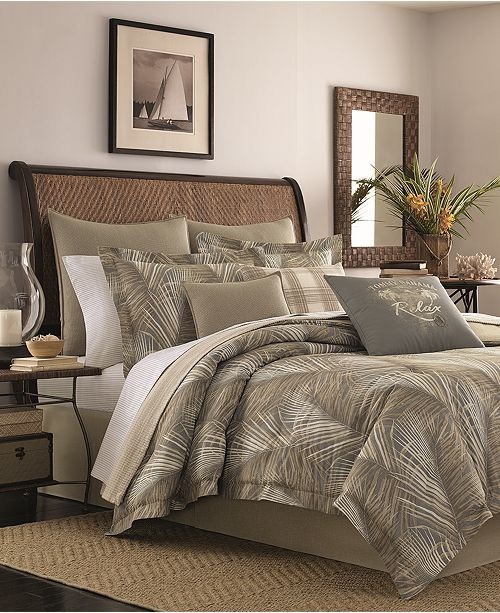 Tommy Bahama Bedroom Furniture Closeout Raffia Palms Reversible 4 Pc California King forter Set