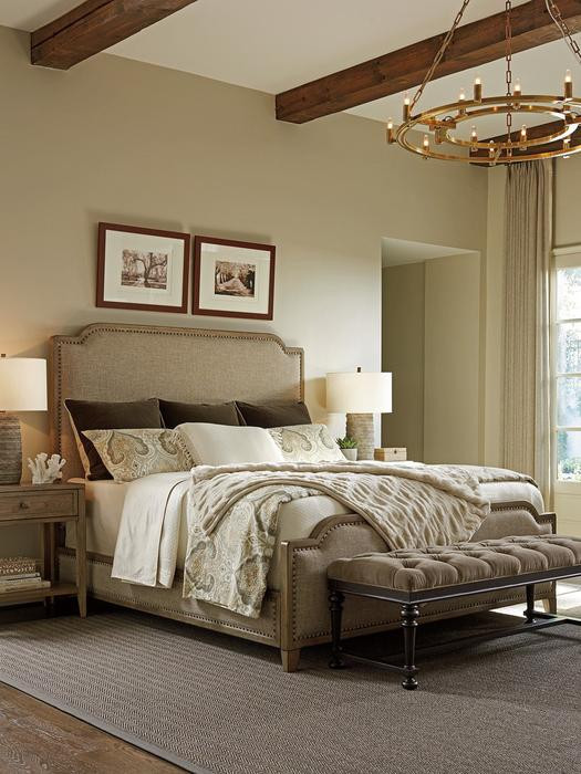 Tommy Bahama Bedroom Furniture tommy Bahama Home Cypress Point Stone Harbour Upholstered Bed