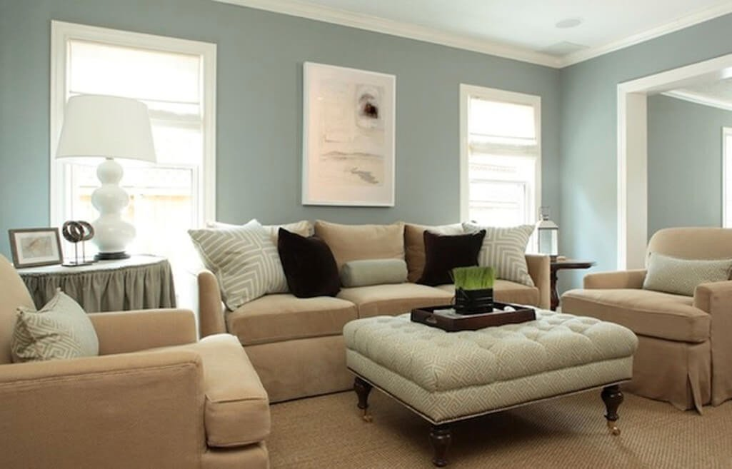 Traditional Blue Living Room 15 Paint Color Design Ideas that Will Liven Up Your Living