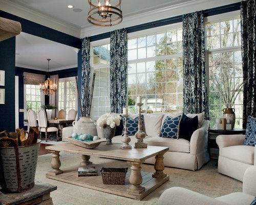 Traditional Blue Living Room Best Traditional Living with Blue Walls Design Ideas