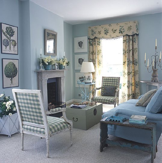 Traditional Blue Living Room Blue and White Traditional Meets Country Living Room