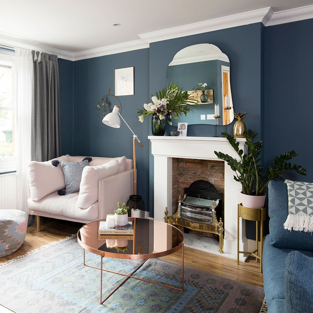 Traditional Blue Living Room Blue Living Room Ideas – From Midnight to Duck Egg See