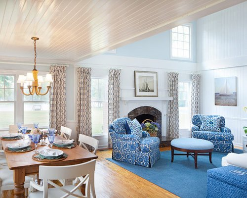 Traditional Blue Living Room Traditional Blue and White Living Room Design Ideas
