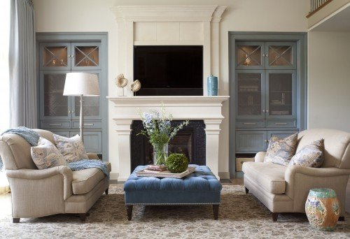 Traditional Blue Living Room Traditional Living Room Ideas and S