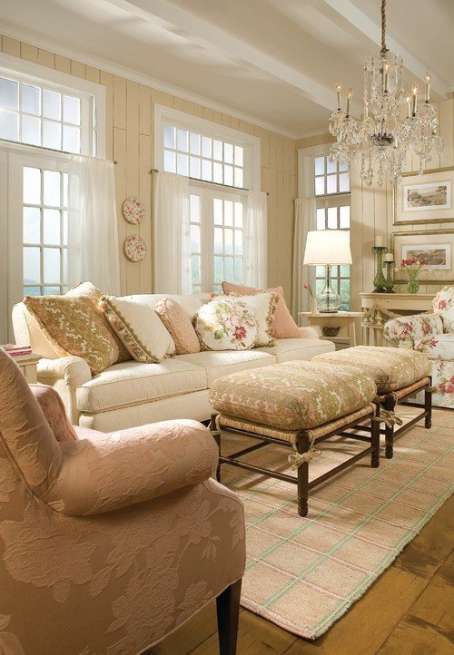 Traditional Chic Living Room A Joyful Cottage 35 Cottage Style Living Rooms that Inspire