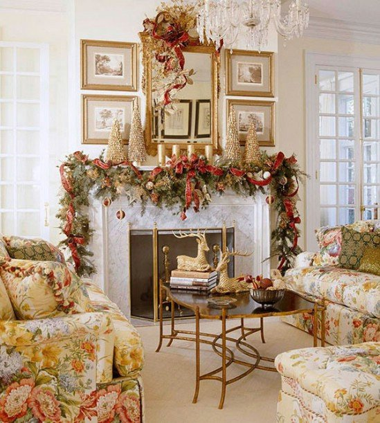 Traditional Christmas Living Room 30 Stunning Ways to Decorate Your Living Room for