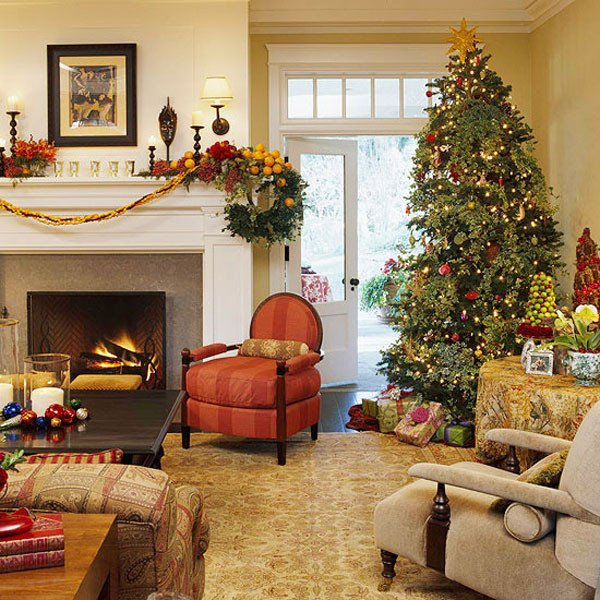 Traditional Christmas Living Room 40 Traditional Christmas Decorations