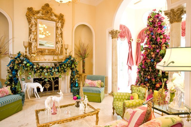 Traditional Christmas Living Room Christmas Interior Traditional Living Room Houston
