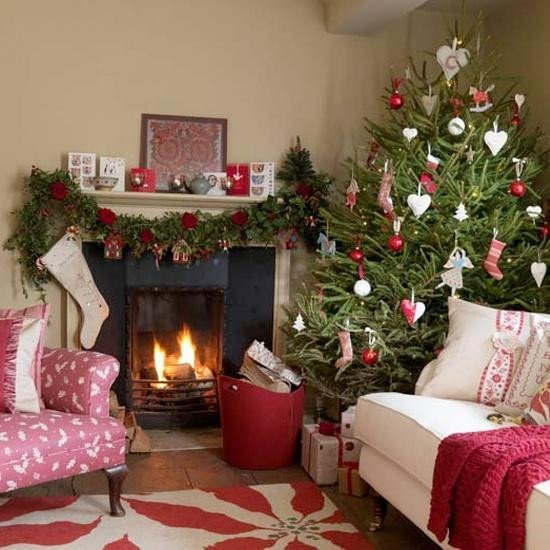 Traditional Christmas Living Room Merry Christmas Decorating Ideas for Living Rooms and