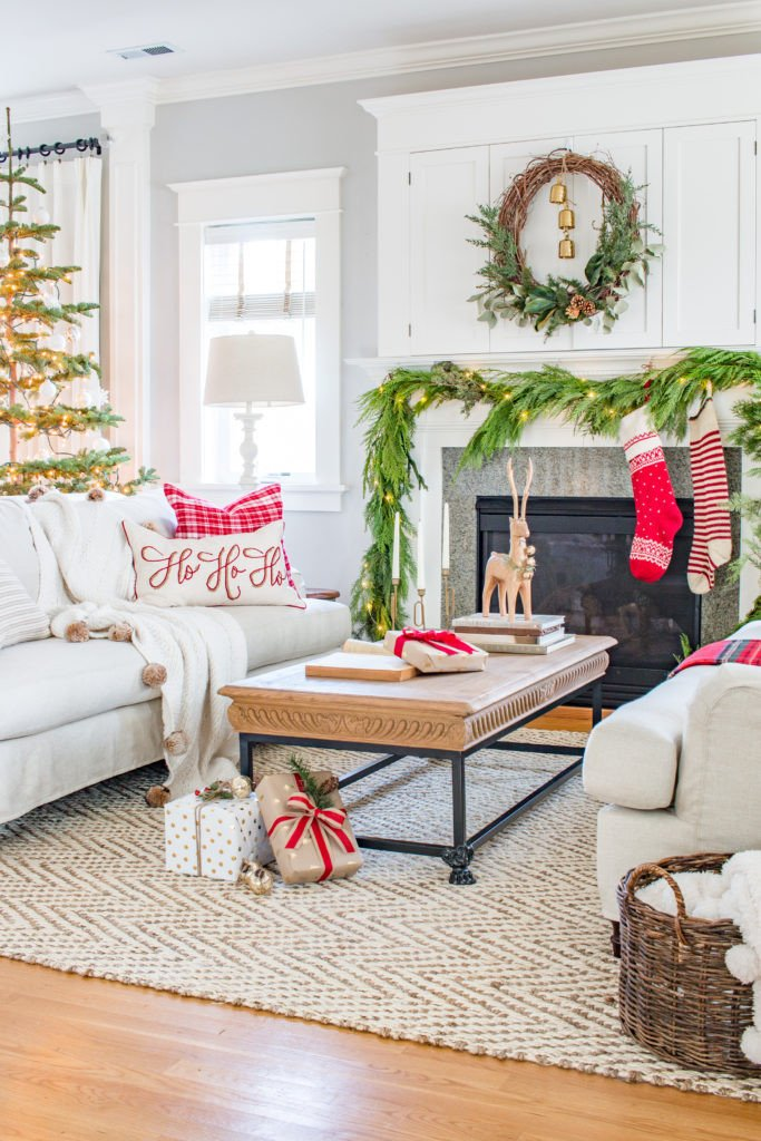 Traditional Christmas Living Room Traditional Christmas Living Room tour 2017 Saw Nail and