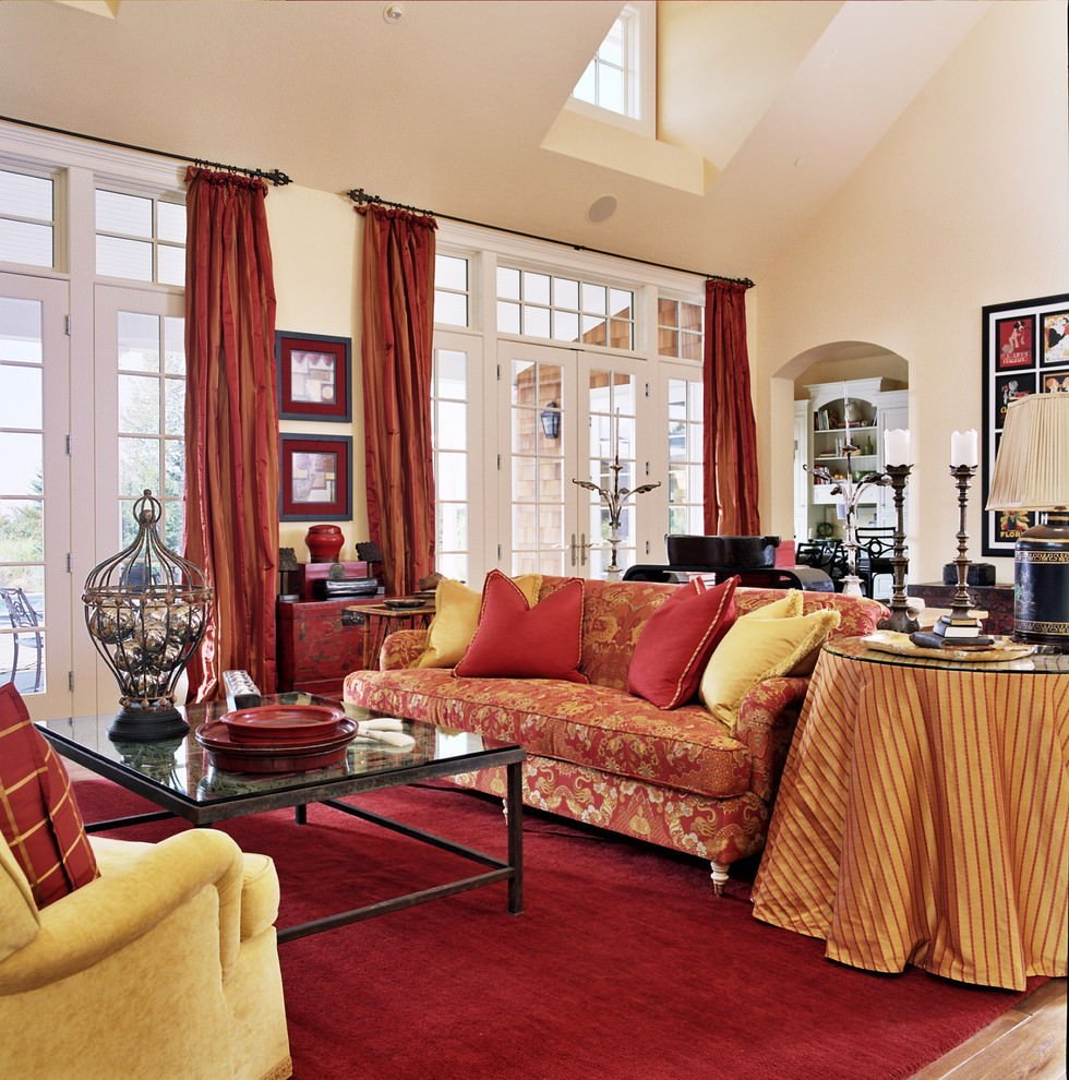 Traditional Draperies Living Room 25 Red Living Room Designs Decorating Ideas