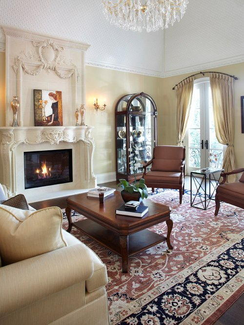 Traditional Draperies Living Room Arch Window Treatment