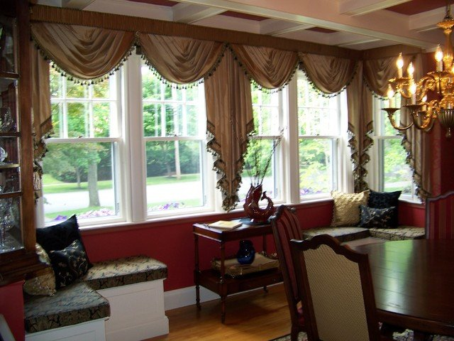 Traditional Draperies Living Room Custom Drapes by Maison Decor