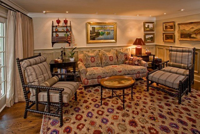 Traditional Eclectic Living Room Eclectic Renovation