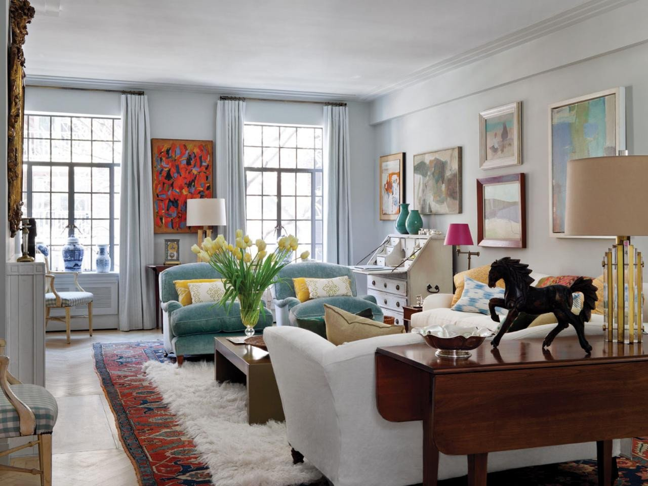 Traditional Eclectic Living Room Hot Style New Traditional
