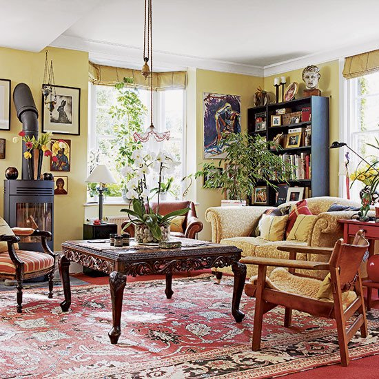 Traditional Eclectic Living Room How Rugs Can Revitalise Living Rooms