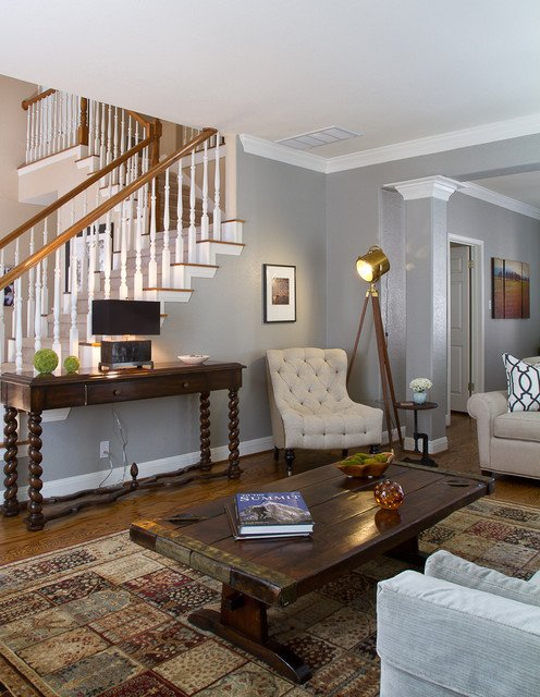 Traditional Eclectic Living Room Modern Eclectic Living Room by Darbyshire Designs