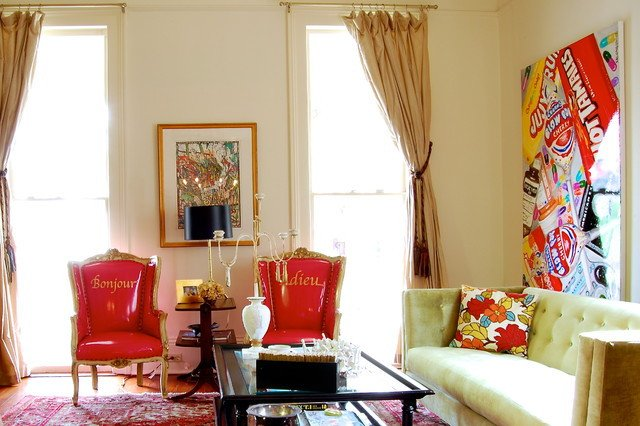 Traditional Eclectic Living Room My Houzz Colorful Eclectic Style In A Traditional New