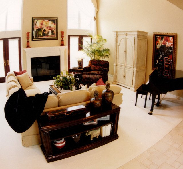 Traditional Eclectic Living Room Neo Traditional Eclectic Living Room Detroit by