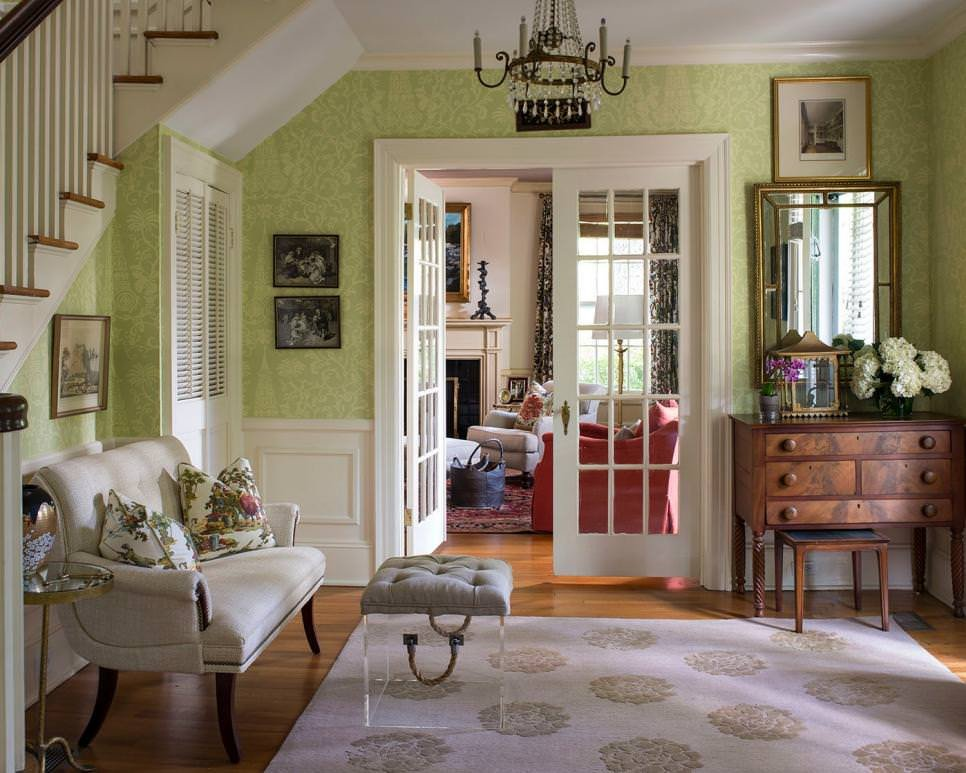 Traditional Green Living Room 23 Green Wall Designs Decor Ideas for Living Room