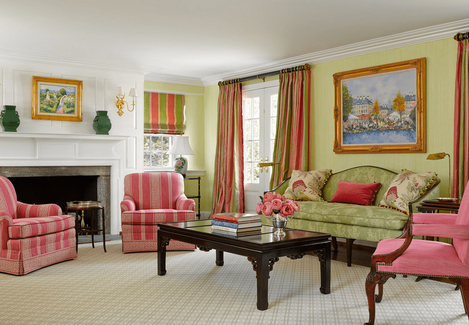 Traditional Green Living Room Green Living Room Ideas