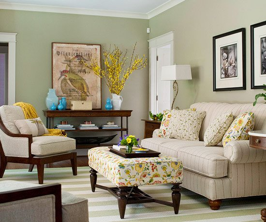 Traditional Green Living Room Modern Furniture 2013 Traditional Living Room Decorating