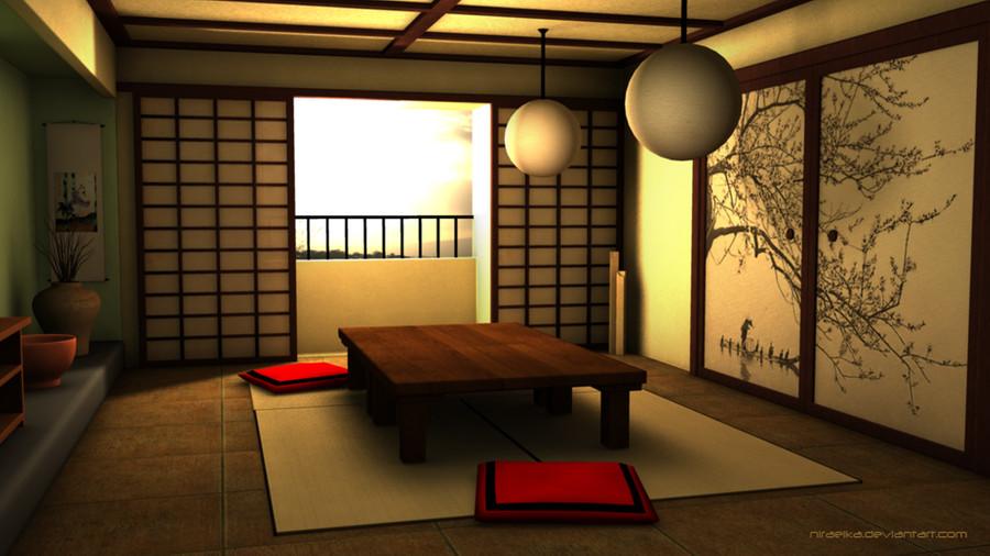 Traditional Japanese Living Room 3d Traditional Japanese Room by Niraeika On Deviantart