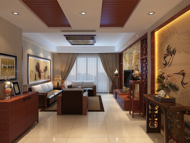 Traditional Japanese Living Room Chinese Traditional asian Living Room Other by