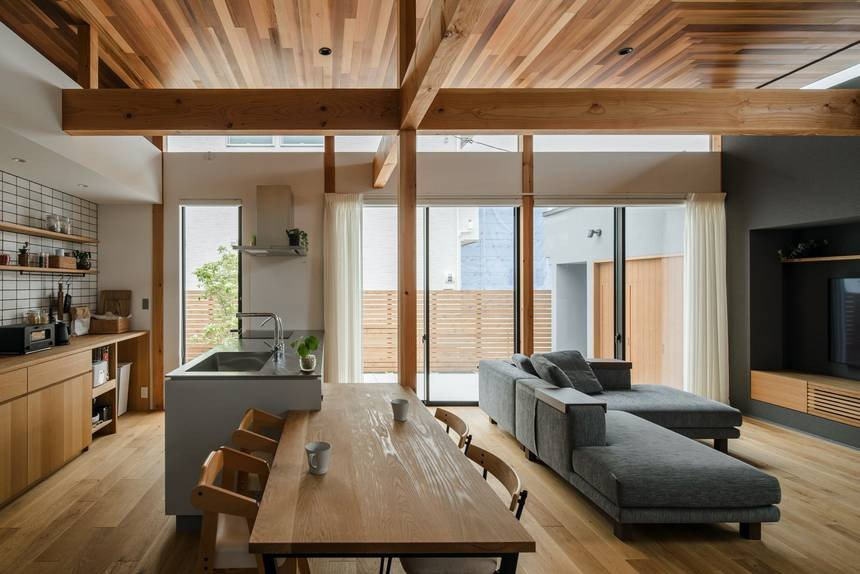 Traditional Japanese Living Room New Japanese House by Alts Design Fice is Influenced by