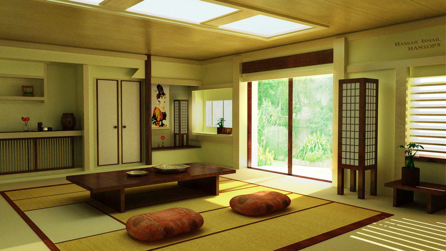Traditional Japanese Living Room Selecting Beautiful Furniture for Home Interior Design