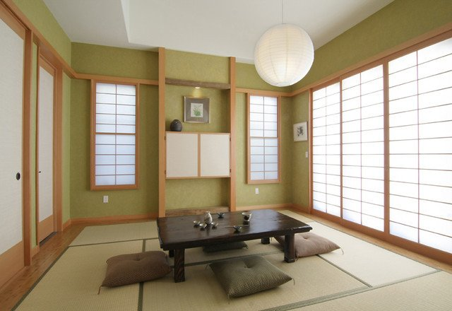 Traditional Japanese Living Room Traditional Japanese asian Living Room Los Angeles