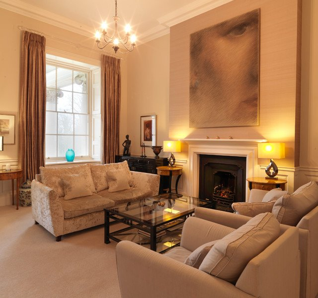 Traditional Living Room Apartment Classic Contemporary Apartment In An English Stately Home