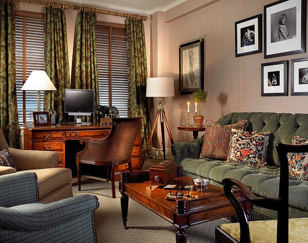 Traditional Living Room Apartment Gentleman S Apartment In New York City Traditional