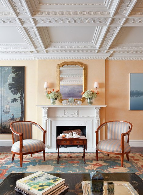 Traditional Living Room Apartment Manhattan Apartment Inspired by the Federal Style