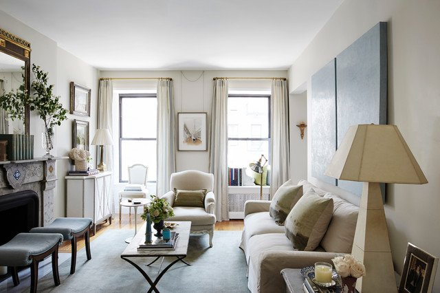 Traditional Living Room Apartment Manhattan Apartment Traditional Living Room New York